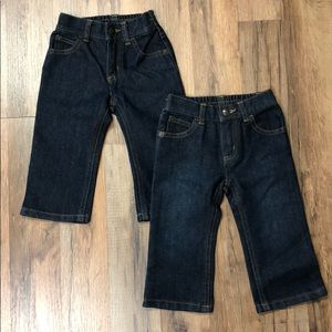 Two Pairs Crazy 8 Baby Boy Dark Wash Jeans NWT